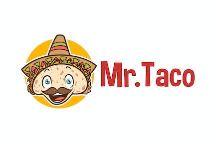 Mr. Taco - Mexican Taco Character Mascot Logo