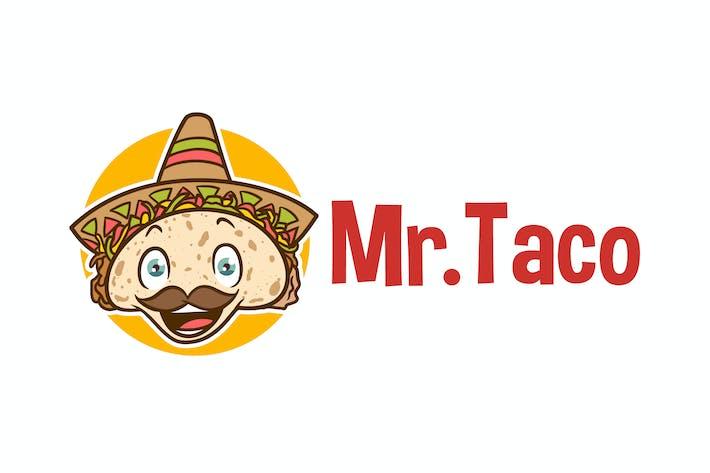 Thumbnail for Mr. Taco - Mexican Taco Character Mascot Logo