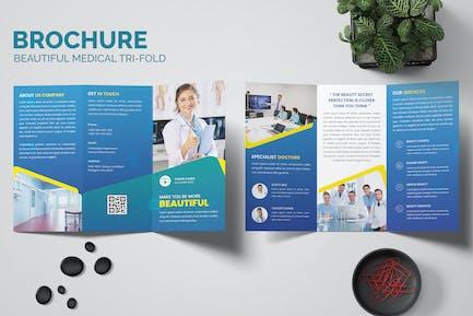 Beautiful Medical Trifold Brochure Templates