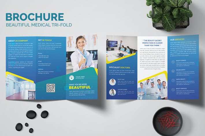 Beautiful Medical Trifold Brochure Templates
