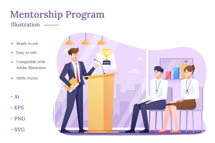 Thumbnail for Mentorship Program Illustration