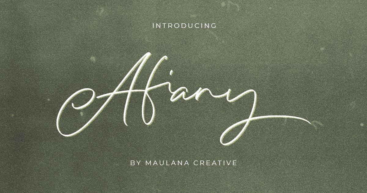Download Afiany Brush Handwritten Script Font by maulanacreative