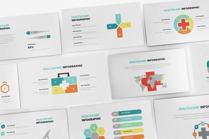 Thumbnail for Healthcare Infographic Keynote Template
