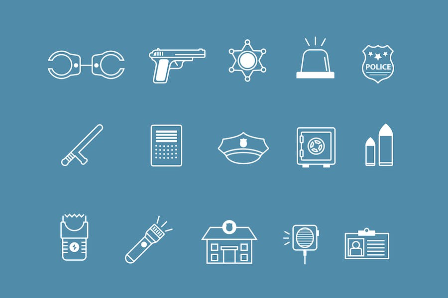 15 Police Icons