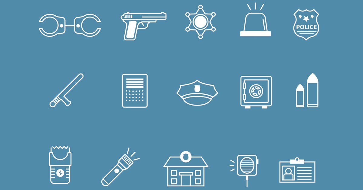 Download 15 Police Icons by creativevip