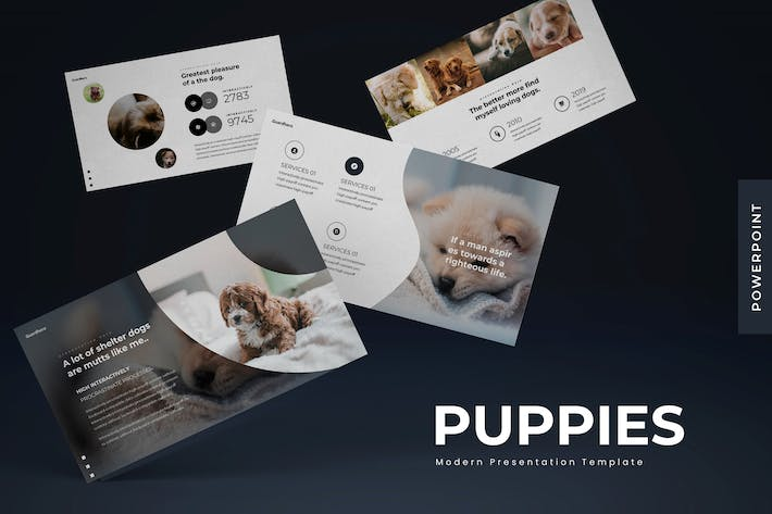 Thumbnail for Puppies - Powerpoint Template