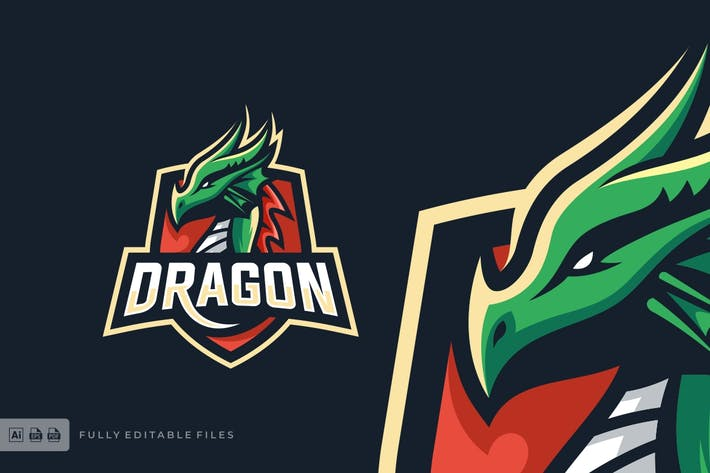 Thumbnail for Dragon Sports and E-sports Style Logo Template
