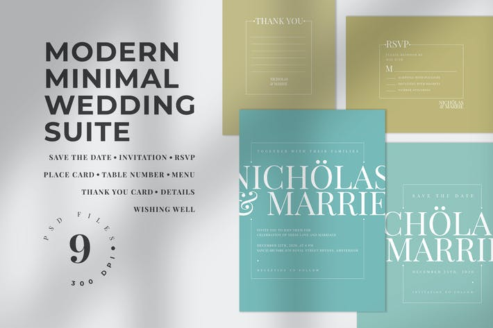 Thumbnail for Modern Minimal Wedding Suite