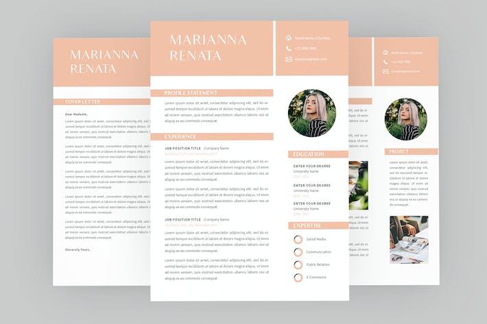 Thumbnail for Marianna Resume Designer