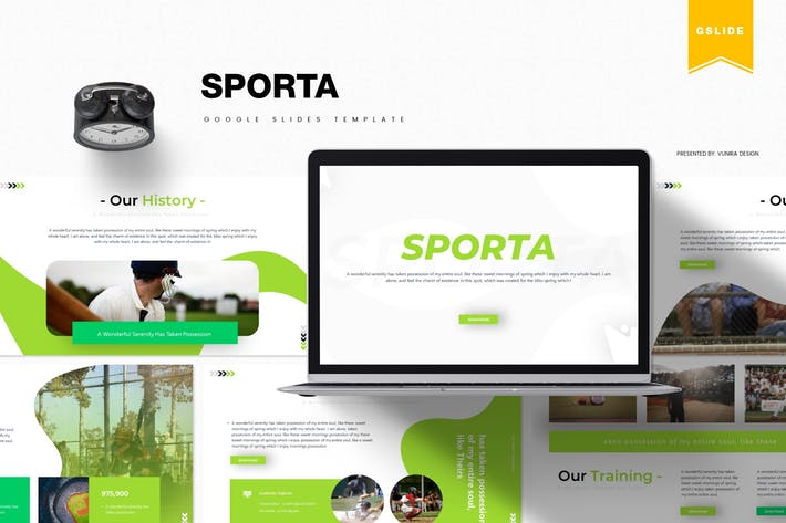 Thumbnail for Sporta | Google Slides Template