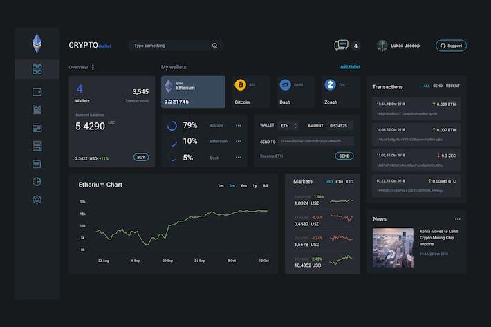 Thumbnail for Admin Dashboard Crypto Wallet Ui kit - T