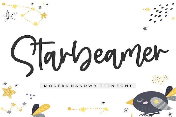 Thumbnail for Starbeamer YH - Handwritten Font