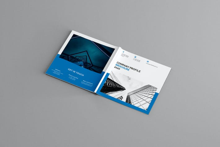 Thumbnail for Mavka - Square Company Profile Brochure Template