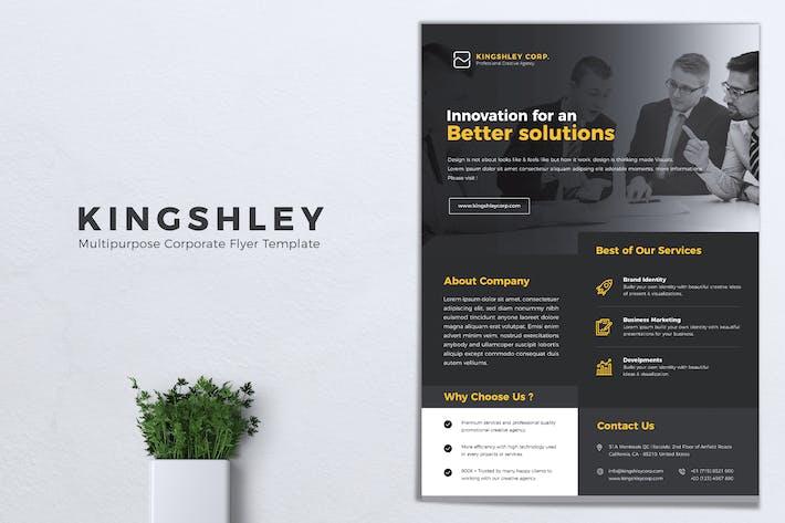 Cover Image For KINGSHLEY Multipurpose Corporate Flyer
