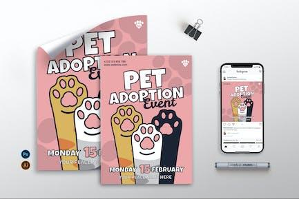 Pet Adoption Event - Flyer, Poster & Instagram GR