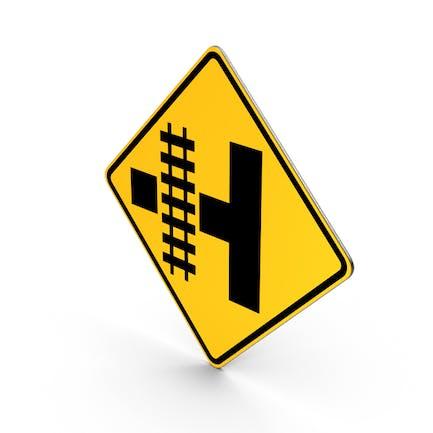 Warnschild für Eisenbahnkreuzung