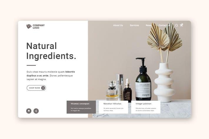 Thumbnail for Skincare store web header