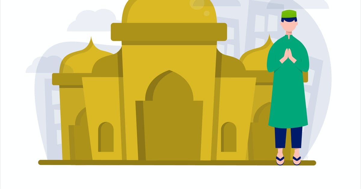 Download Ramadan Mosquee Flat Vector Illustration by StringLabs