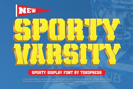 Sporty Varsity - Stencil Font