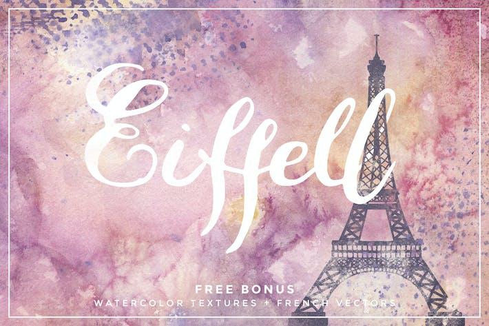 Thumbnail for Eiffell Brush Script Font + Extras