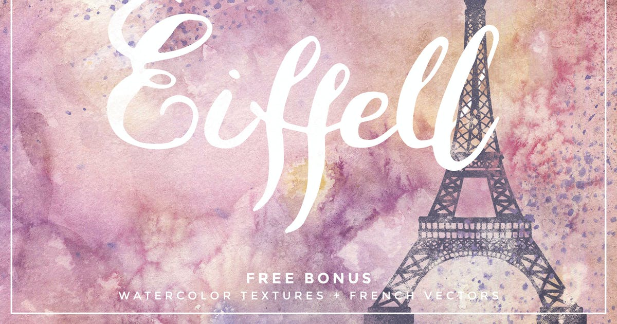 Download Eiffell Brush Script Font + Extras by DesignPanoply