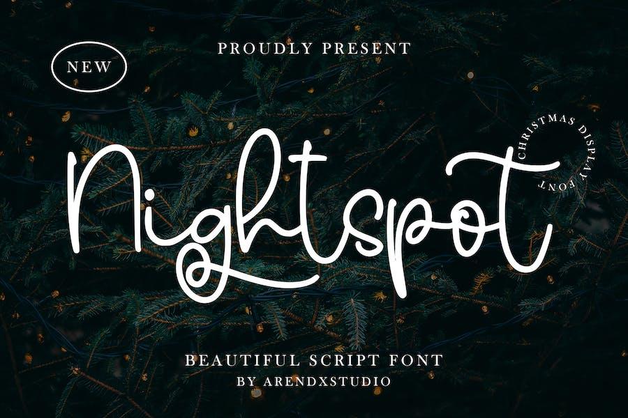 Nightspot - Beautiful Script Font