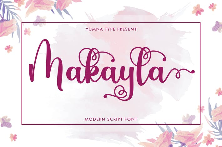 Thumbnail for Makayla - Beautiful Script Font