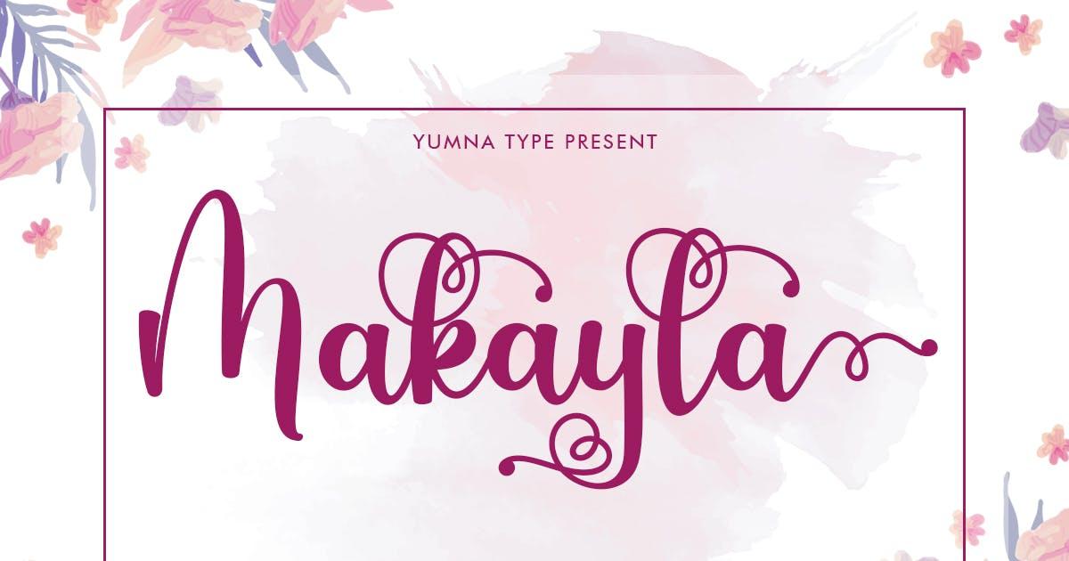 Download Makayla - Beautiful Script Font by YumnaStudio