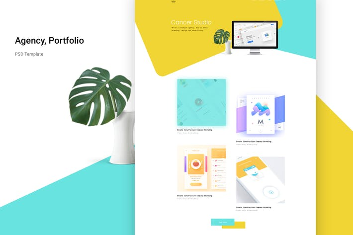 Thumbnail for Agency portfolio Psd Template
