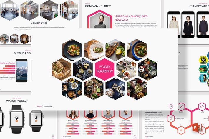 Cover Image For HEXA - Powerpoint Presentation Template