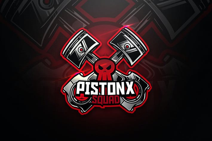 Thumbnail for Pistonx Squad - Mascot & Esport Logo