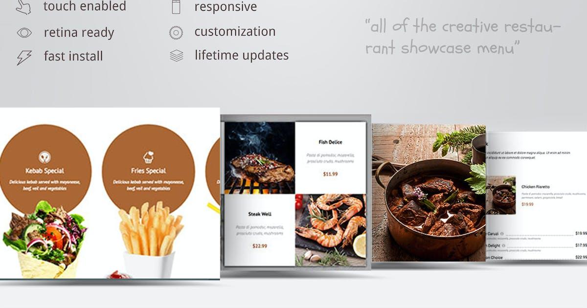 Download Creative Restaurant Menu Showcase WooCommerce by ZoomIt