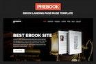 Prebook - eBook Landing Page Responsive Adobe Muse