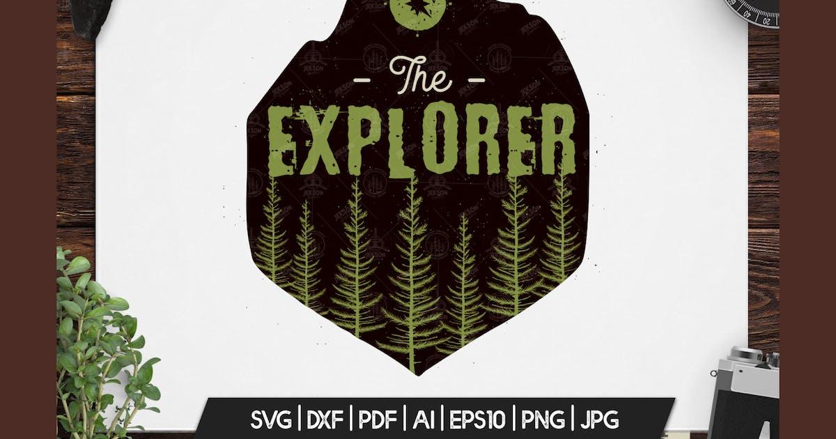 Download Retro Explorer Badge / Vintage Travel Logo Patch by JeksonJS