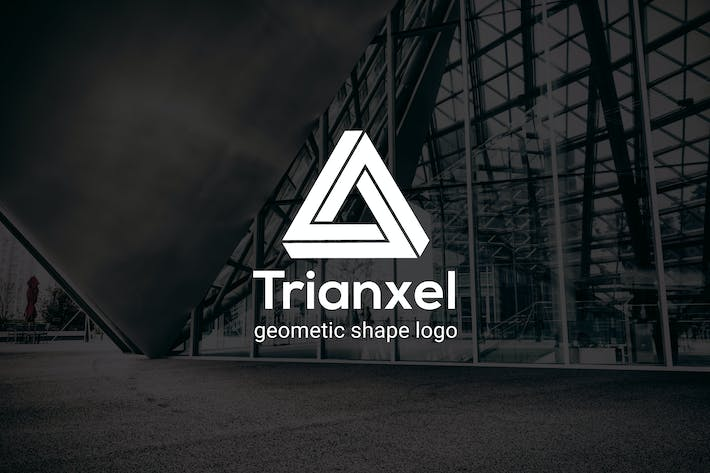 Thumbnail for Trianxel : Geometric Shape Logo