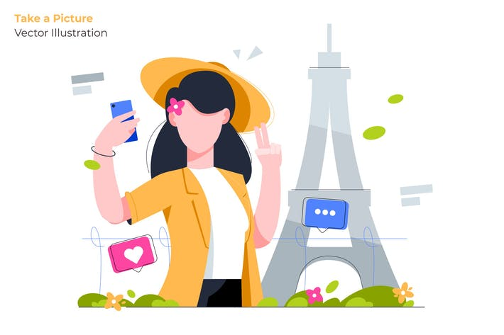 Take a Picture - Vector Illustration
