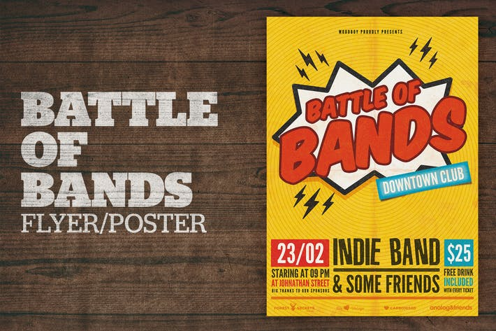 Thumbnail for Battle of Bands Poster