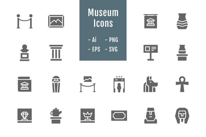 Thumbnail for 20 Museum Icons (Solid)