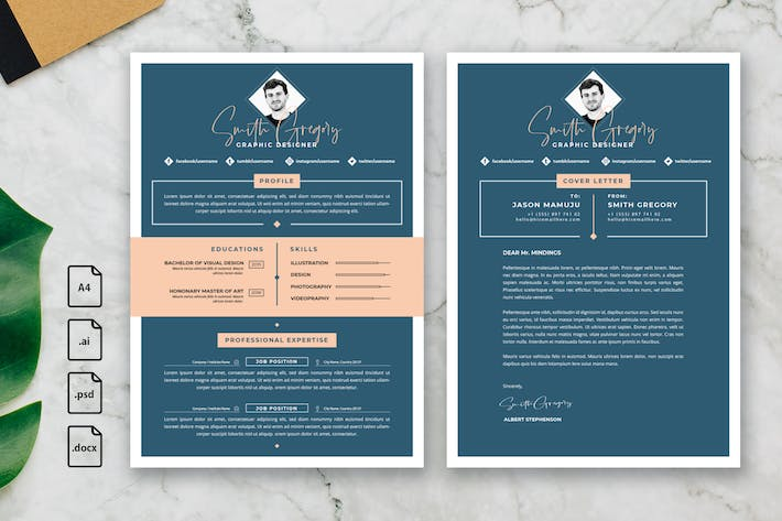 Thumbnail for Professional CV And Resume Template Smith