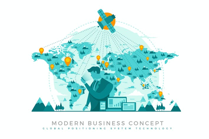 Thumbnail for Global Positioning System Modern Business Concept