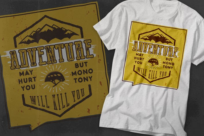 Thumbnail for Vintage Adventure Inspiration Poster / Typography