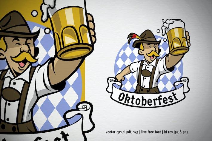 Thumbnail for oktoberfest logo bavarian man celebrating