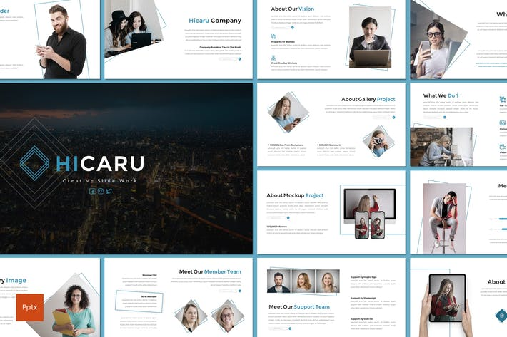Thumbnail for Hicaru - Business Powerpoint Template