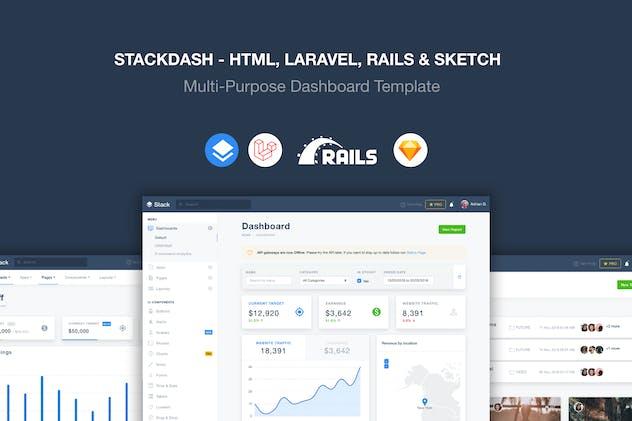 Stack - Laravel, HTML & Rails Template