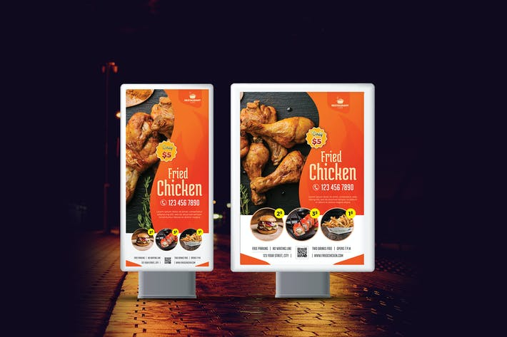 Restaurant Roll-Up Banner