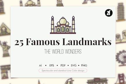 25 Famous landmark elements