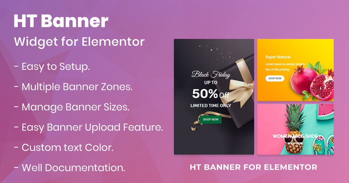 Download HT Banner for Elementor by codecarnival