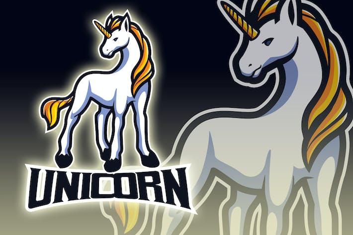 Gelbes Haar Einhorn Esport Logo