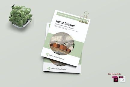 HOME - Interiors Bifold Brochure Template
