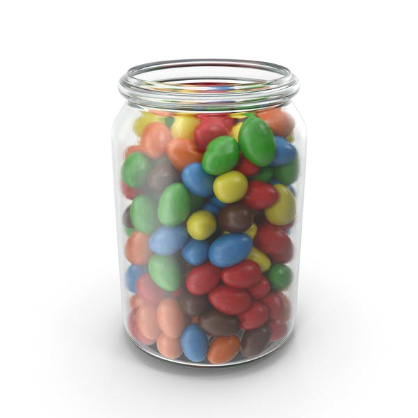 Thumbnail for Jar with Peanuts with Colored Chocolate Coating